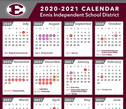 2020-2021 District Calendar Approved