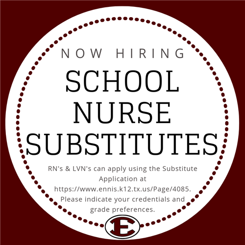Now Hiring School Nurse Substitutes